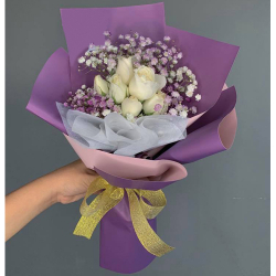 send bunch of 6 white roses to philippines