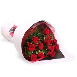 send 12 pcs. red ecuadorian roses in bouquet to philippines