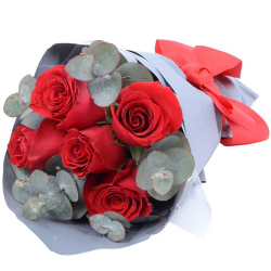 send 5 pcs. red ecuadorian roses bouquet to philippines