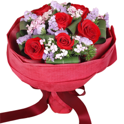 send 6 stem red ecuadorian roses bouquet to philippines