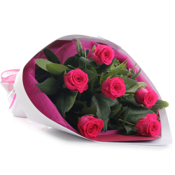 send 6 pink ecuadorian roses bouquet to philippines