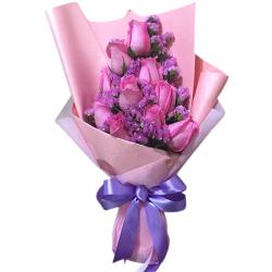 send 10 pcs. hot pink ecuadorian roses to philippines