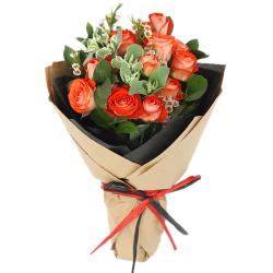 send dozen of orange ecuadorian roses bouquet to philippines