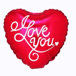1pcs I Love You Mylar Balloon