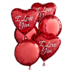 6 pcs I Love You Mylar Balloon