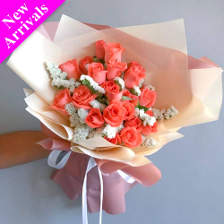 send 24 stems pomelo color roses bouquet to philippines