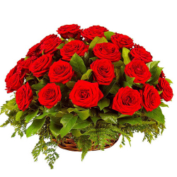 send 24 red roses in basket to philippines