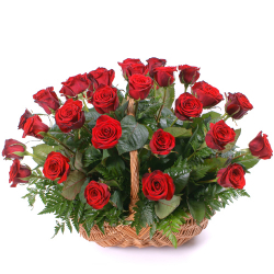 send 24 rose in basket to philippines