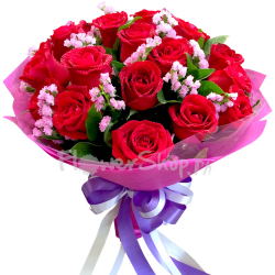12 red rose bouquet send to philippines