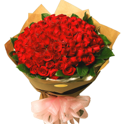send 100 red roses in bouquet to philippines