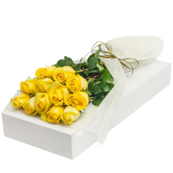 send 12 pcs yellow roses in box to philippines