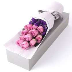 send 12 pcs pink color rose in box to philippines