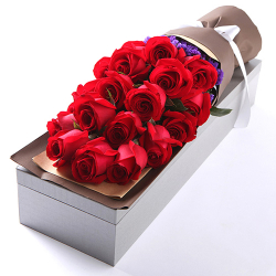 send 16 pcs red roses in box to philippines