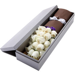 send 24 pcs. white roses in box to philippines