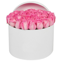 send 24 soft pink roses in box to philippines