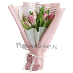 send 9 pcs. pink color tulip in bouquet to philippines