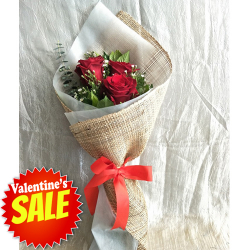 send bouquet of 3 stems red roses to philippines