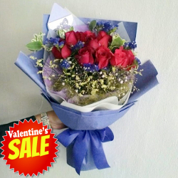 send 12 red roses in gorgeous bouquet to philippines