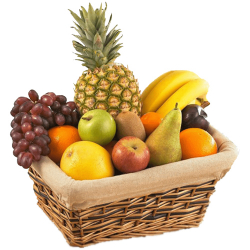 A Basket Full of Fresh Fruits