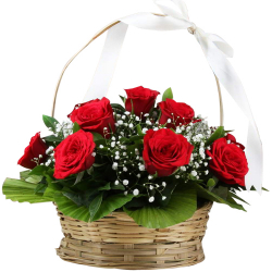 12 pcs. Red Color Roses in Basket: 12 pcs. Fresh Red Color Roses in a Beautiful Basket Arrangement. Beauty lies in the eyes of beholder and lovelies at the bottom of the heart. Crafting a perfect amalgamation of beauty and love. Please Note: Basket design may vary.  Please note: no same-day delivery & delivery processing time is 1 to 2 days. Please Note: We are temporarily delivering within the Metro Manila area only because of Enhanced Community Quarantine & Lockdown Restrictions. Same day delivery is not available, the order processing time is 1/2 days.  Your purchase includes a complimentary greeting card message. Delivery Area: For Metro Manila Delivery Only.