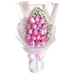 Send 24 Pink Roses in Bouquet to Manila