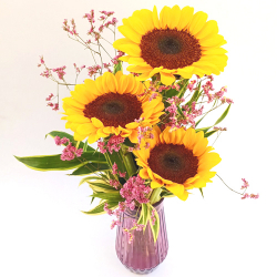 3 Piece's Sunflower Vase