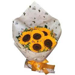 Half Dozen Sunflower In Bouquet