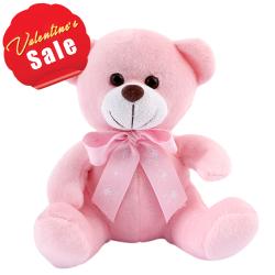"""8"""" Cute Pink Teddy Bear"""