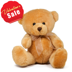 "8"" Cute Small Size Brown Color Teddy Bear."
