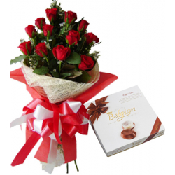 send 12 roses with Belgian Caffe Latte To Philippines