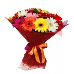 send 12 multi color gerberas bouquet to philippines