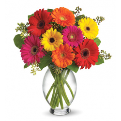 send gerberas in vase to philippines