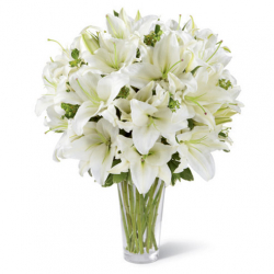 send 18 lilies in vase to philippines