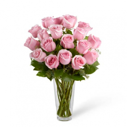 send 12 pink rose in vase to philippines