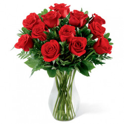 send 12 rose in vase to philippiens
