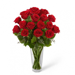 Send 12 Red Roses in Vase to Philippines