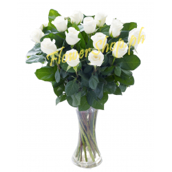 buy elegant white roses vase in manila