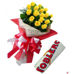 send 12 yellow roses with toblerone chocolate to philippines