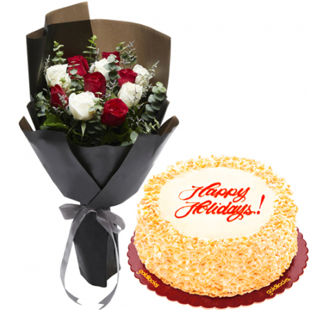 send mixed roses with classic sanrival cake to philippines