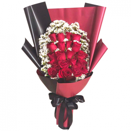 24 red rose bouquet send to philippines