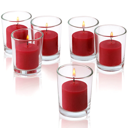 send 6 pcs red carndles with glass holder to philippines