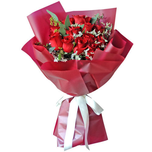 send 12 stems red ecuadorian roses bouquet to philippines