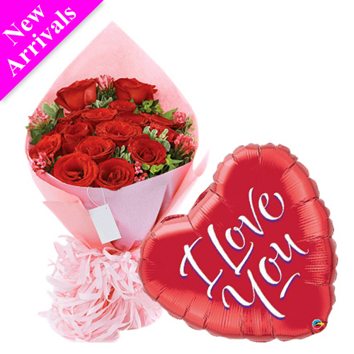 24 pcs Roses & love you balloon