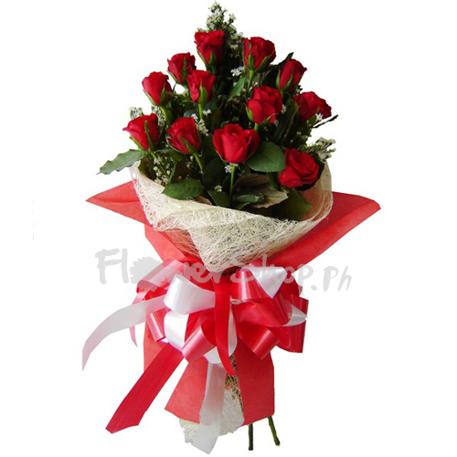 send bouquet of 1 dozen red roses to philippines
