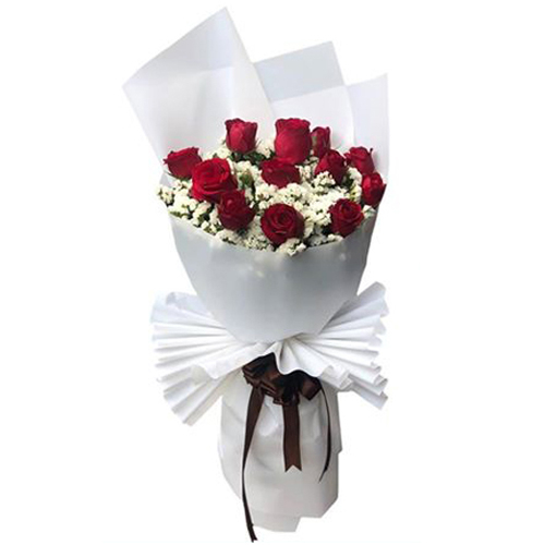Dozed of Red Roses Bouquet