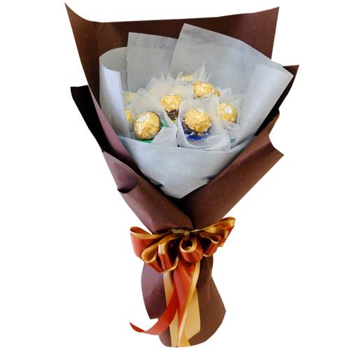 12 Pcs. of Ferrero Rocher Chocolate in Bouquet