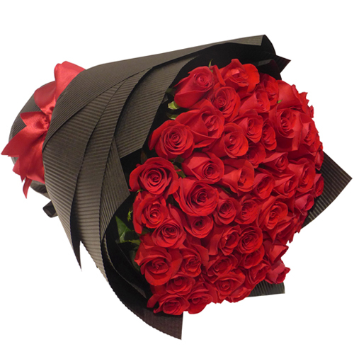 24 pcs Red Rose in Bouquet