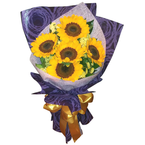 5 Piece Sunflowers Bouquet