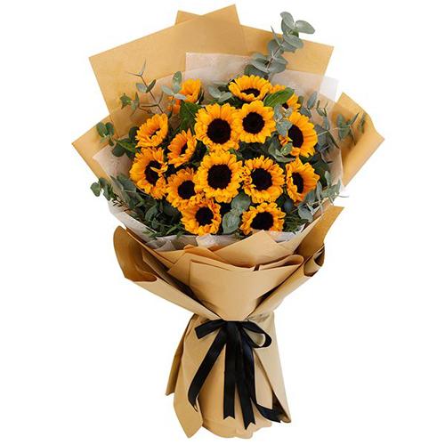 15 pcs Sunflower in Bouquet