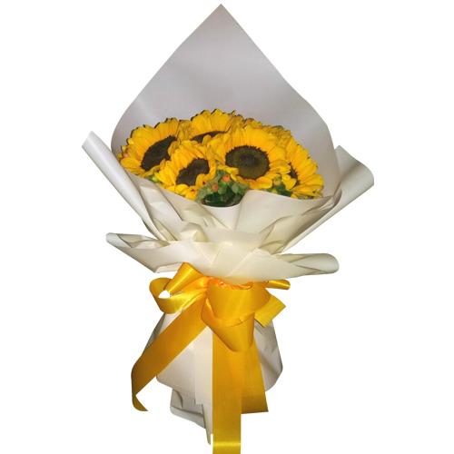 6 pcs Sunflower in Bouquet